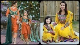 'Latest Top Beautiful Mother and Daughter Same Dress Designing Ideas/Mom Daughter Similar Dresses'