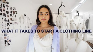 'HOW TO GET YOUR CLOTHING LINE MADE | THE PRODUCTION PROCESS | HOW TO FIND A MANUFACTURER'