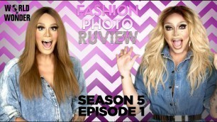 'RuPaul\'s Drag Race Fashion Photo RuView with Raja and Raven: Season 5 Episode 1'