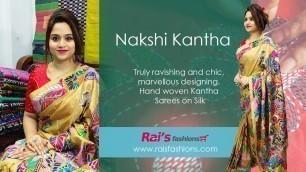 'Nakshi Kantha || Hand Kantha Stitched Collection On Bangalore Silk (05th December) - 04DD'