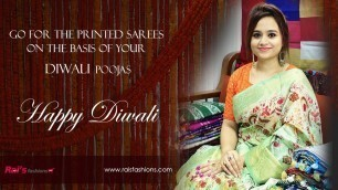 'Go For The Printed Sarees On The Basis Of Your Diwali Poojas (09th November) - 06NS'
