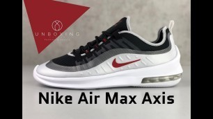 'Nike Air Max Axis 'Black/Sport-red mtlc platinum'   UNBOXING & ON FEET   fashion shoes   2019'