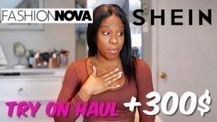 'HUGE +300$ FASHION NOVA & SHEIN TRY ON HAUL | WINTER TRY ON HAUL & HONEST REVIEW'