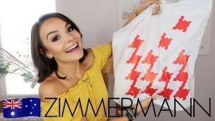 'ZIMMERMANN SALE HAUL 2019 || BEST AUSTRALIAN FASHION DESIGNERS'