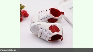 '✓0-18M fashion Infant Kid Boy Girl Heart Pattern shoes Soft Sole Canvas'