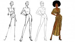 'Fashion Illustration: how to draw a croquis for fashion design (part 1)'
