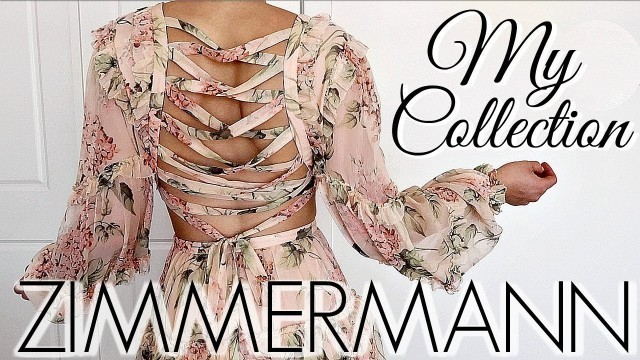 'MY ZIMMERMANN DESIGNER FASHION COLLECTION || TRY ON'