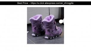 '⭐️ MudiPanda 2020 Children\'s Winter Boots for Baby Girl Shoes Kid\'s Boys New Fashion Plus Velvet Wa'