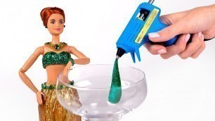 'How To Make A Barbie Outfit From Hot Glue'