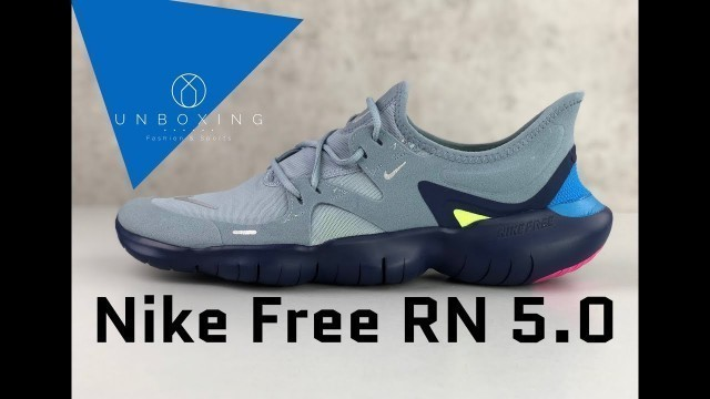 'Nike Free RN 5.0 'obsidian mist/mtlc silver' | UNBOXING & ON FEET | running shoes | 2019'