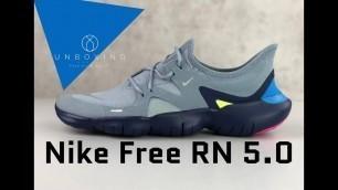 'Nike Free RN 5.0 'obsidian mist/mtlc silver' | UNBOXING & ON FEET | running shoes | 2019'