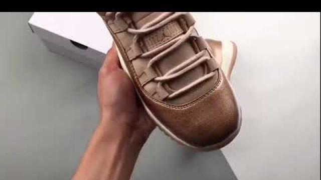 'Jordan 11 Low Rose Gold (W) 11s Basketball Shoes'