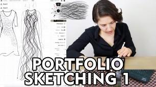 'Portfolio Sketching 1 - Fashion Design'