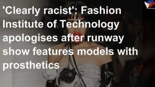 'Fashion Institute of Technology apologizes'
