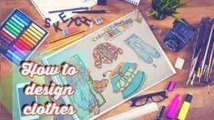 'How to Become a Fashion DesignerHow to draw a spore design - Drawing step by step'
