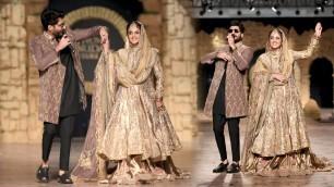 'Pakistan Beautiful Actress Ramp Walk in Hum tv Bridal Fashion Week 2020'