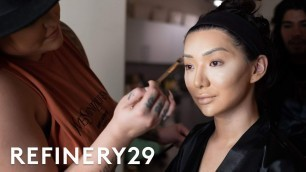 'Get Ready With Nikita Dragun For A Fashion Show | Get Glam VR | Refinery29'