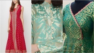 'Very latest fashion trend of jacard dresses designing/banarsi /brocade dress designing ideas'