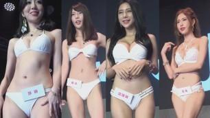Asian models show underwear/BIKINI SHOW/показ нижнего белья/мини бикини,микро бикини