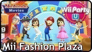 'Wii Party U - Mii Fashion Plaza (4 Players) Mario/Roman/Pirate/Cave/Rock-Star outfits'