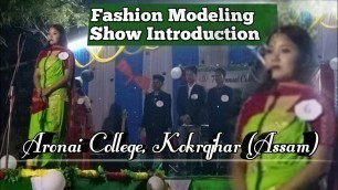 'Fashion Modeiing Show Introduction    Aronai College, Kokrajhar (Assam)  New Bodo HD Video 2021'