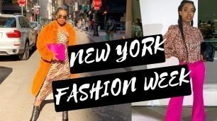 'New York Fashion Week 2020 Vlog    NYFW'