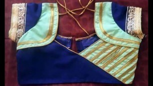 'Patch Work Blouse Neck Designs New Fashion'