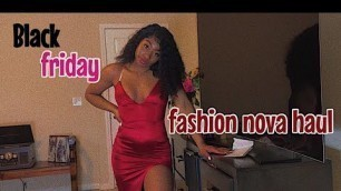 '| vlogmas day 9 | BLACK FRIDAY FASHION NOVA TRY-ON HAUL!!!!!'