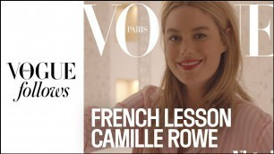 'The sexiest French lesson with Camille Rowe for Victoria\'s Secret | VOGUE PARIS'