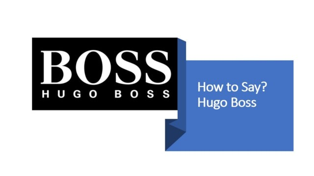 'How to Pronounce Hugo Boss?   German Fashion Brand Pronunciation'