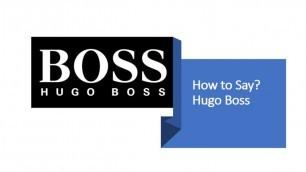 'How to Pronounce Hugo Boss? | German Fashion Brand Pronunciation'