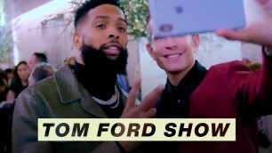 'Behind the Scenes with Odell Beckham Jr. at the Tom Ford Fashion Show'