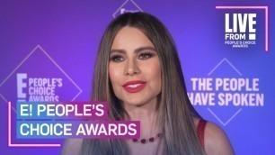 "'Sofía Vergara Feels \""Amazing\"" Accepting Last \""Modern Family\"" Award | E! People's Choice Awards'"