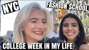 'COLLEGE WEEK IN MY LIFE | Fashion Institute of Technology FIRST WEEK | NYC 2019'