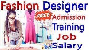 'Fashion Designing Course 2020 // Free Admission & Govt Certificate // Training /Job / Salary'