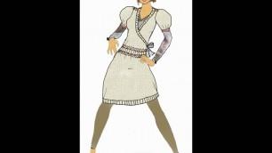 'Portfolio Entry #2 Clothing Sketches and Flats #style #design #fashio  #draw #create'