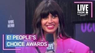 'Jameela Jamil Praises People\'s Choice Awards Host Demi Lovato   E! People's Choice Awards'