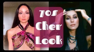'CHER | 70s Glam Hair & Makeup Tutorial | 1970s Makeup | 1970s Fashion | 1970s Inspiration'