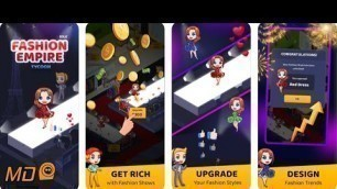 'Fashion Empire Tycoon - Idle - Gameplay IOS & Android'