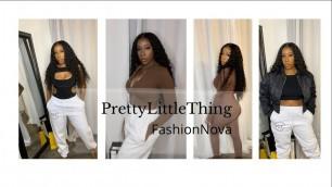 'PRETTYLITTLETHING + FashionNova mini Haul'