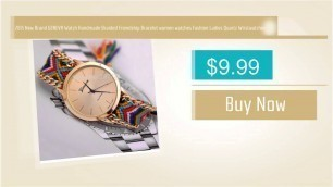 '2015 New Brand GENEVA Watch Handmade Braided Friendship Bracelet Women\'s Fashion Watch'