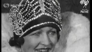 'GERMANY: FASHION:  A new German fashion Queen (1927)'