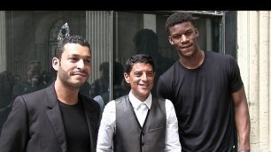 'Said Taghmaoui, Adel Bencherif and Jimmy Butler at Cerruti Fashion Show in Paris'