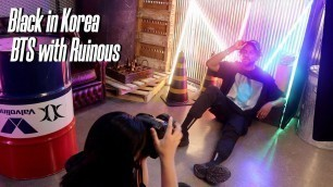 'Black in Korea | BTS Photo Shoot with Korean fashion brand Ruinous'