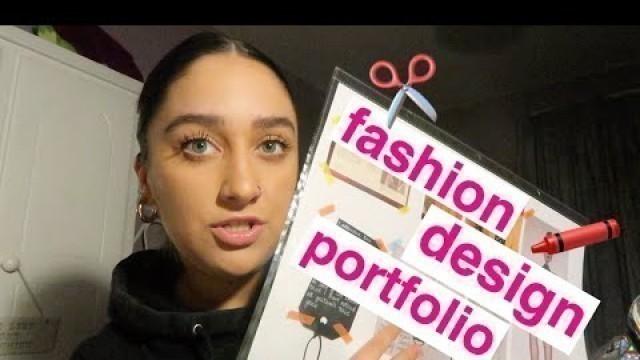'Reacting to my fashion design portfolio - uni application!!!'