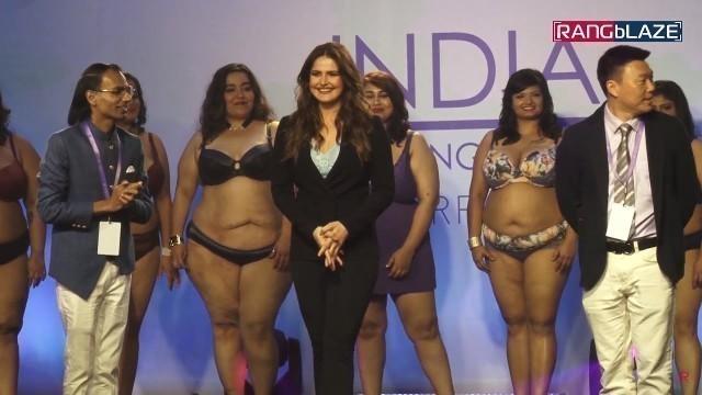 'Plus Size Model Fashion Show 2019   Ramp Walk   India   Zarine Khan   UNCUT'