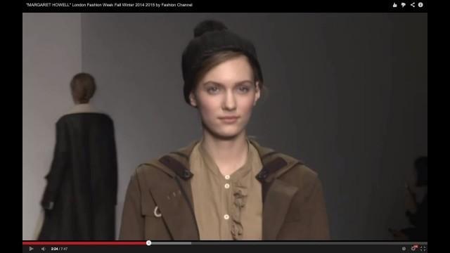 "'\""MARGARET HOWELL\"" London Fashion Week Fall Winter 2014 2015 by Fashion Channel'"