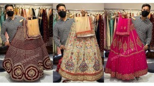 'FASHION SHOW वाले BRIDAL लहंगे, WEDDING BUTTERFLY RAJWARI LEHENGA | CHANDNI CHOWK LEHENGAS 2020-2021'