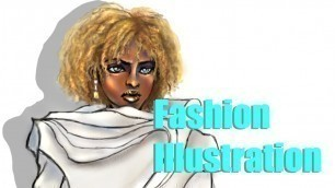 Fashion Illustration - African American Model