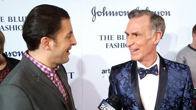 'Bill Nye at the Blue Jacket Fashion Show with Arthur Kade'